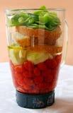 Vorbereitung von gazpacho Stockfotos