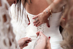 Vorbereitung zur Hochzeit lizenzfreie stockbilder
