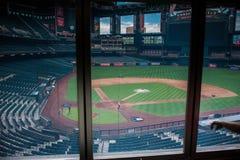Vorbereitungen für das Baseballspiel Stockfotografie