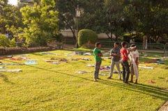 Vorbereitungen für das Festival Esala Perahera in Kandy auf Sri Lanka Stockfoto
