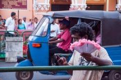 Vorbereitungen für das Festival Esala Perahera in Kandy auf Sri Lanka Lizenzfreies Stockbild