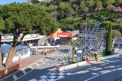 Vorbereitungen für das Monaco Grandprix 2015 Stockbild
