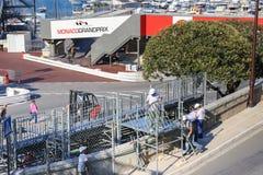 Vorbereitungen für das Monaco Grandprix 2015 Stockbilder