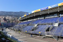 Vorbereitungen für das Monaco Grandprix 2015 Stockfotos