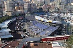 Vorbereitungen für das Monaco Grandprix 2015 Lizenzfreies Stockbild