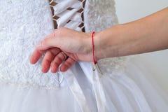 Vorbereitungen für die Hochzeit Stockfotografie
