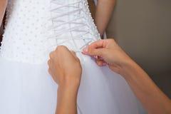 Vorbereitungen für die Hochzeit Stockbild