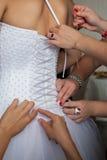 Vorbereitungen für die Hochzeit Stockfotos