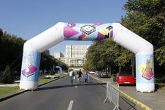 Vorbereitungen für Kinderrennen Lizenzfreie Stockbilder