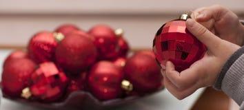 Vorbereitungen für Weihnachten Stockfotografie