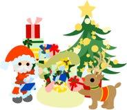 Vorbereitungen für Weihnachtsgeschenke Lizenzfreie Stockbilder