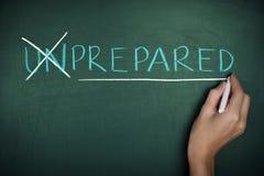 Vorbereitungs-Konzept vorbereitetes bereites Lizenzfreie Stockfotos