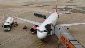 Vorbereitungs- und Brennstoffaufnahmeflugzeuge lizenzfreie stockbilder
