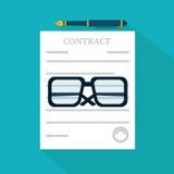 Vorbereitungsgeschäfts-Vertragsikone lizenzfreie abbildung