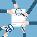 Vorbereitungsgeschäftsvertrag ablage vektor abbildung
