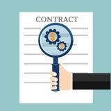 Vorbereitungsgeschäftsvertrag Auch im corel abgehobenen Betrag vektor abbildung