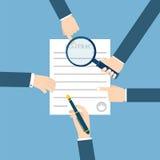 Vorbereitungsgeschäftsvertrag Auch im corel abgehobenen Betrag Vektor auf Lager vektor abbildung