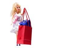 Vorbildliche Attrappe und Einkaufen Stockfoto