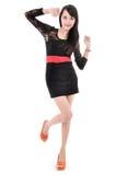 Vorbildliche Aufstellung der Schönheit im eleganten Kleid Lizenzfreie Stockfotografie