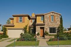 Vorbildliche Häuser stockbild