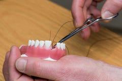 Vorbildliche medizinische Implantate, welche die Ausrüstung prüfen Stockfoto