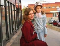 Vorbildliche Natalia Vodianova in Biysk Lizenzfreie Stockfotografie