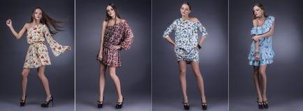 Vorbildliche Schönheiten in der modernen Kleidung und im Zubehör SH Lizenzfreie Stockfotografie