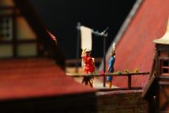 Vorbildliche Szene der Frau Stockbilder