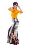 Vorbildliche tragende moderne Kleidung Stockfotografie
