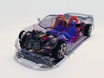 Vorbildliche transparente Autos vektor abbildung