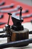 Vorbildliche Werkzeuge für Metallschmieden Stockfoto