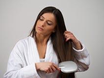 Vorbildlicher Hairbrush Lizenzfreie Stockbilder