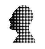 Vorbildlicher Kopf weg geschnitten Stockfoto