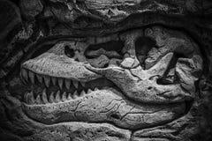 Vorbildliches Dinosaur-Fossil, Dinosaurier sind eine verschiedene Gruppe Reptilien des clade Dinosauria lizenzfreie stockfotos