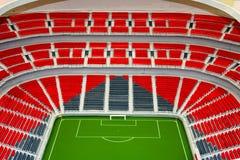 Vorbildliches Fußballstadion Stockfotos