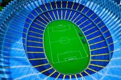 Vorbildliches Fußballstadion Lizenzfreie Stockfotos