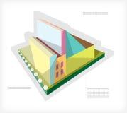 Vorbildliches Gebäude. Färben Sie A stock abbildung