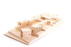 Vorbildliches Haus der Architektur auf weißem beackground Lizenzfreie Stockfotos