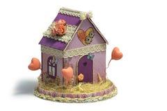 Vorbildliches House u. x28; dekorativ, handmade& x29; Stockbilder