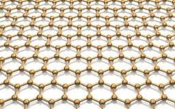 Vorbildliches Kristallgitter graphene Lizenzfreie Stockbilder