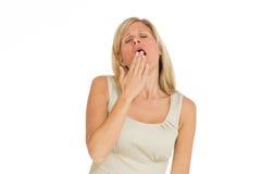 Vorbildliches müdes Gähnen Lizenzfreie Stockbilder