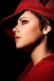 Vorbildliches Portrait im Rot Stockbilder