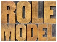 Vorbildtypographie Lizenzfreie Stockfotos