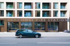 Vorderansicht der Cambridge-Feuerwache lizenzfreies stockbild