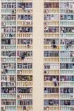 Vorderansicht der Wohnung in Hong Kong Stockbilder