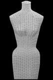 Vorderansicht des aus Weiden geflochtenen weiblichen Mannequins getrennt Stockfotos