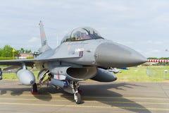Vorderansicht des Kampfflugzeugs F16 Lizenzfreie Stockbilder
