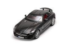 Vorderansicht des luxuriösen schwarzen Autos Lizenzfreies Stockfoto