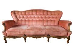 Vorderansicht des Luxuxweinlese Sofas getrennt Lizenzfreies Stockbild