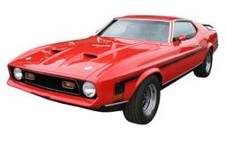 Vorderansicht des roten Sportwagens lizenzfreie stockbilder